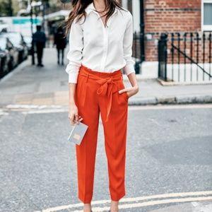 d4e824fcd Boden Pants - Boden Red Pop Melina Paperbag Pants 12 R